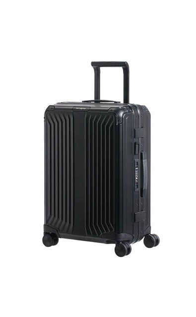MALETA SAMSONITE LITE-BOX ALU 55CM COLOR NEGRO
