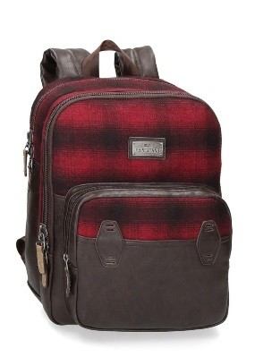 MOCHILA PEPE JEANS PC SCOTCH ROJO 13.3""